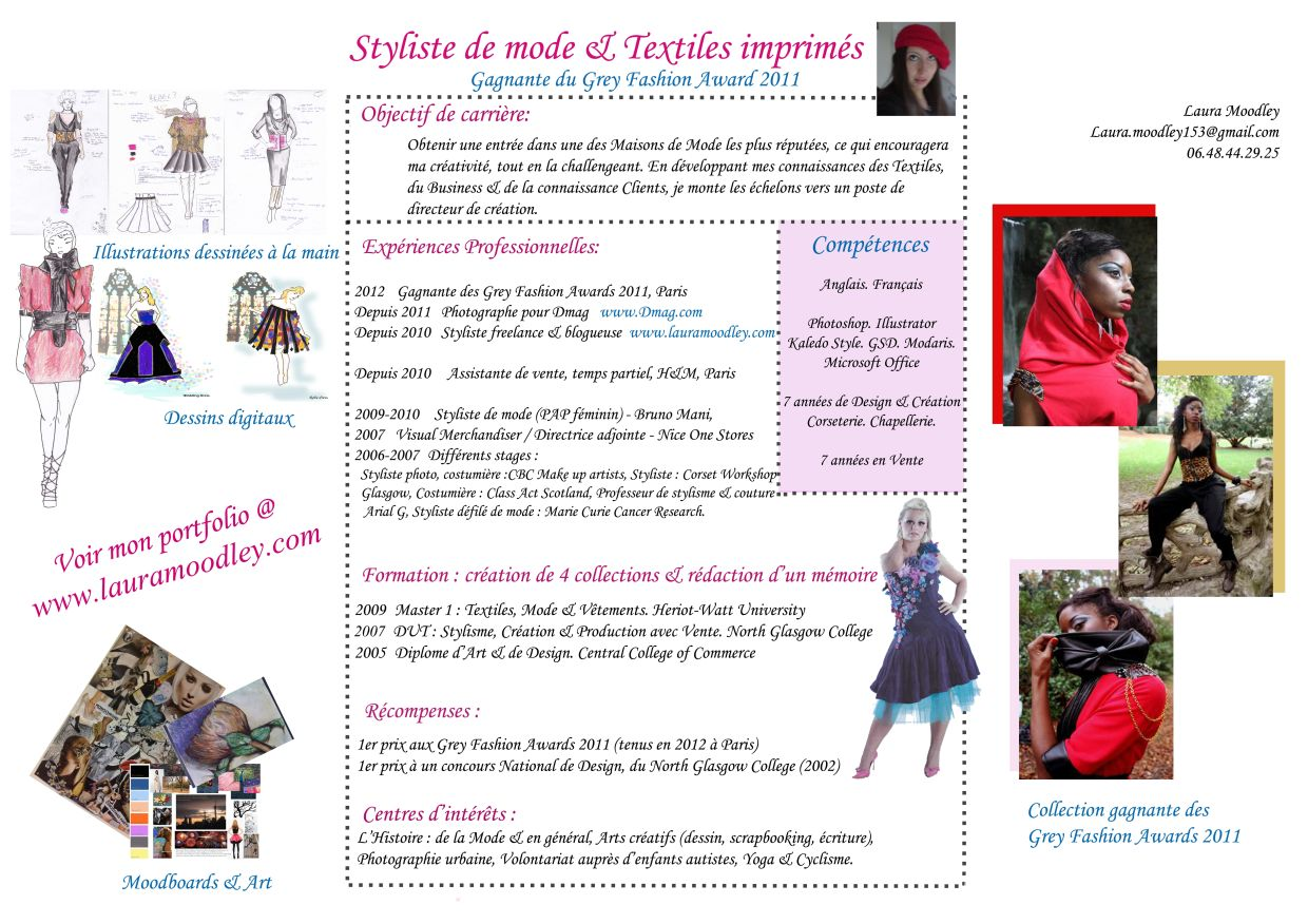 cv styliste    cv assistante styliste de laura l moodley  u2013 styliste de mode et blog mode paris